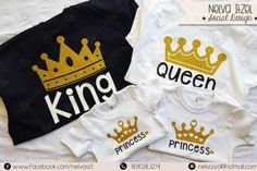 Nelva Itzel Social Design Playeras King Queen Princess