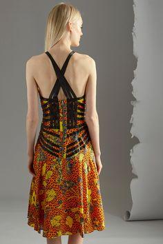 Kampania Odzież damska UK touch / 37570 / Kobieta / Sukienki kolorowe - wzorzyste / Sukienka z jedwabiu Pomarańczowa