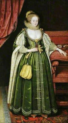www.fashion.net Marcus Gheeraerts the younger (Flemish artist, 1561-1635)  Portrait of a Lady 1618