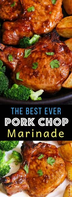 The Best Ever Pork Chop Marinade is the easiest and most delicious marinade that makes your pork chops extra tender and juicy. It helps to tenderize pork chops with a mouthwatering sweet and savory sauce. Only 15 minutes to make with restaurant quality! Pork Chops And Rice, Sauce For Pork Chops, Pork Sirloin Chops, Tender Pork Chops, Pork Sirloin Cutlets Recipe, Grill Pork Chops, Marinade For Pork Tenderloin, Dutch Oven Pork Chops, Best Baked Pork Chops