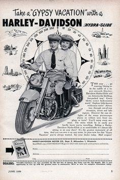 vintage harley ads | Vintage Harley-Davidson Ad