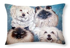 """Reigning Cats N Dogs Throw Pillow 20"""" x 14"""""""