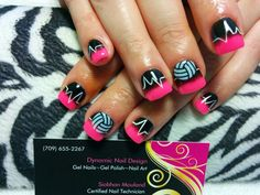 Volleyball life. Gel nails with Jamberry Serve it up accent wraps.