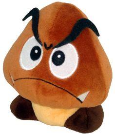 "Super Mario Plush - 5"" Goomba Soft Stuffed Plush Toy Japanese Import SANEI http://www.amazon.ca/dp/B002WJI65S/ref=cm_sw_r_pi_dp_6ktXwb01FPAN6"