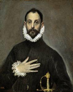El Greco  The Nobleman with his Hand on his Chest      Museo Nacional del Prado