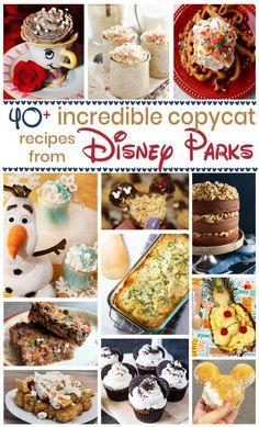 Disney Dishes, Disney Desserts, Disney Food Recipes, Good Food, Yummy Food, Fun Food, Delicious Desserts, Easy Dinner Recipes, Dessert Recipes