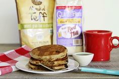 These pancakes are light as a feather! The beauty of this recipe is the teff and oat flours, which have a sweet, almost malty flavor to them.