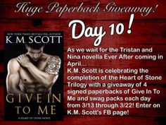 Day 10 of KM Scott's Paperback Giveaway and today its even bigger!! So go enter now!!! on.fb.me/1lcdMMv