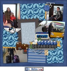 Mad for the Mouse: Have you heard? Disney Scrapbook, Scrapbooking, Scrapbook Layouts, Disney Magical Express, Gallery, Mini, Roof Rack, Scrapbooks, Scrapbooking Layouts