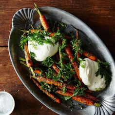 10 Ways to Cook with Root Vegetable Greens……………………………………………...Roasted Carrots with Carrot Top Pesto and Burrata