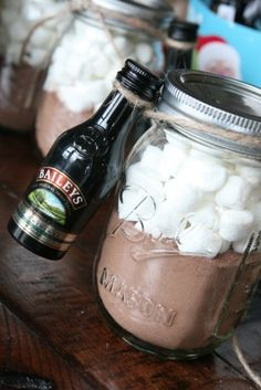 hot drinks in a mason jar