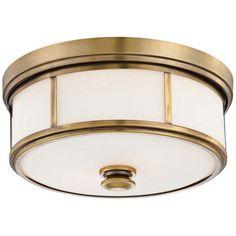 "Harbour Point 13 1/2"" Wide Liberty Gold Ceiling Light - #W6764 | LampsPlus.com"