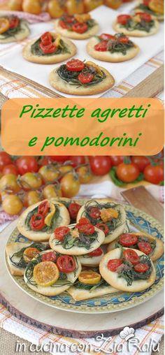 Pizzette agretti acciughe e pomodorini - In cucina con Zia Ralù