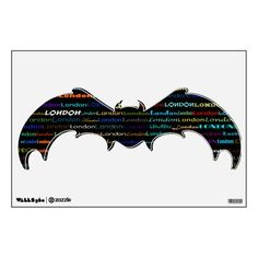 London Text Design I Wall Decal Bat
