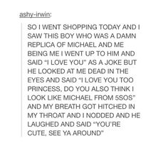 I JUST HAD A HEART ATTACK <<< SHE FOUND HER MICHAEL