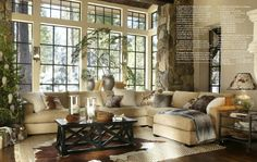 Great living room! PB | Design | Living & Great Rooms