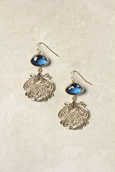 Filigree Crochet Earrings - <3