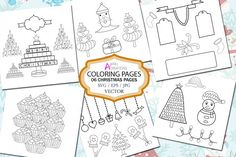 Adorable Christmas coloring pages. Fun kids holiday activities.