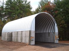 Steel salt storage buildings are on the rise! Metal Building Kits, Steel Building Homes, Building Materials, Building A House, Fabric Buildings, Steel Buildings, Storage Buildings, Shed Design Plans, Shed Plans