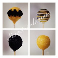 Batman cakes pops...can also make some to match robin