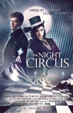 Inspired fan poster & casting for the film version of The Night Circus.
