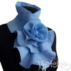 Scarf collar. Natural wool. Handmade.