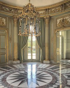 Interior of the French Pavilion, Versailles Tea Room Decor, Marble Columns, Palace Interior, Palace Of Versailles, French Architecture, Brick And Stone, Classic Interior, France, Play Houses