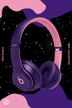 Make a statement everywhere you go with your favorite color from the Beats Pop Collection, featuring Beats Wireless and Wireless. Music Wallpaper, Galaxy Wallpaper, Mascara, Eyeliner, Cute Headphones, Pop Collection, Apple Products, Bluetooth Headphones, Cute Wallpapers