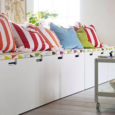 Ikea Stuva - bench seat storage for playroom / garage