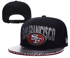 Mens San Francisco New Era NFL Team Colors Fashion Shine Logo Custom  Metallic Visor Snapback Cap bb14a17b8