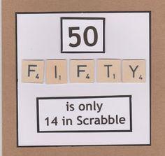 Lidy's Place: 50 jaar kaart man en vrouw - 50th birthday card ma... …