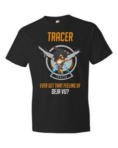 Overwatch Tracy - Black Short sleeve t-shirt