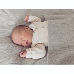 Prince Carl Philip shared a photo of his new son Prince Gabriel taken at Villa Solbacken, which was taken when the young royal was five days old. In keeping with the new tradition of royals stepping behind the camera, the 38-year-old snapped the picture of his son sleeping cozily in a gray blanket and sweater.    Photo: Prince Carl Philip