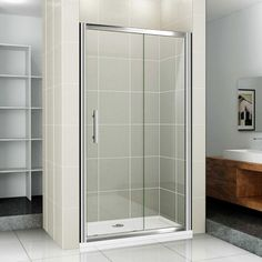 Different Ways To Clean Glass Shower Doors Glass shower doors can beautifully accent the shower in your bathroom. Many of our Glass Station customers love the look of glass but are not quite sure how to properly clean their shower doors to avoid any mineral buildup or hard-water stains on the glass surfaces. Here are some easy ways to clean your beautiful glass shower door!  Squeegees A squeegee is like a handheld windshield wiper that cleans glass to remove water from the surface. Some…