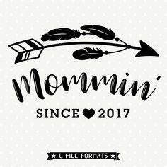 Mommin svg Mom Iron on file Mom SVG file Baby Shower Gift