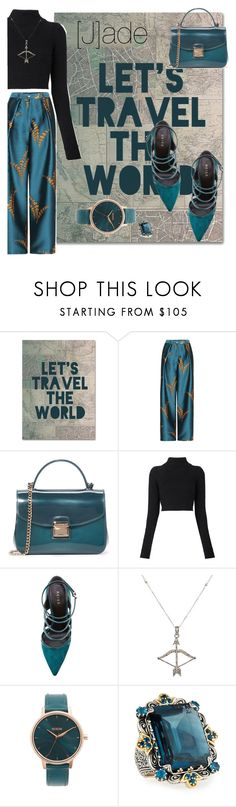 """""""[J]ade"""" by alma994 ❤ liked on Polyvore featuring Trademark Fine Art, Furla, Balmain, Feathered Soul, Nixon and Konstantino"""