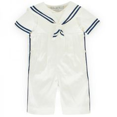 LITTLE DARLINGS Ivory Duke Silk Sailor Suit Set