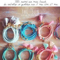 Handmade jewelry. Originele sieraden met een bohemian look en feel.