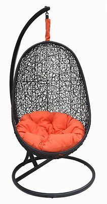 Beautiful Wicker Swing Chair - Belina- includes matching stand - Model – Y9037BK