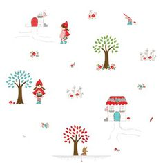 little red riding hood fabric.. cute