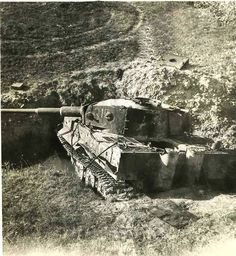 A Tiger 1 that held its ground until destroyed in Italy in 1944