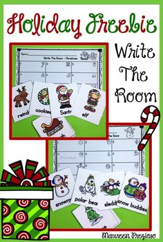 Christmas and Fun in the Snow Write The Room activities will get your students up and moving during the busy holiday season! Kindergarten Freebies, Kindergarten Writing, Kindergarten Activities, Teacher Freebies, Reading Activities, Christmas Writing, Preschool Christmas, Christmas Fun, Xmas