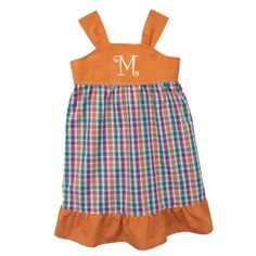 Laney Loops - Pumpkin Plaid Sleeveless Play Dress, $24.99 (http://www.laneyloops.com/pumpkin-plaid-cotton-play-dress/)