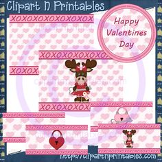 Valentine Moose Girls 2 Paint Can Set Semi-Exclusive