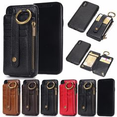 Removeable Leather Wallet Card Stand Case for Iphone X 8 7 6 5 SE Samsung Plus Edge Note 8 Detachable Case over. Subcategory: Mobile Phone Accessories & Parts. Iphone Wallet Case, Card Wallet, Iphone Cases, Leather Case, Leather Wallet, Marble Iphone Case, Pouch Bag, Luxury, Bags