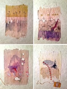 Gouache and markers on used tea bags by Ruby Silvious www.rubysilvious.com