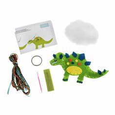 Picture of Felt Decoration Kit: Dinosaur Make A Dinosaur, Make Your Own, Make It Yourself, Minerva Crafts, Felt Owls, Felt Decorations, Craft Kits, Felt Crafts, Step By Step Instructions