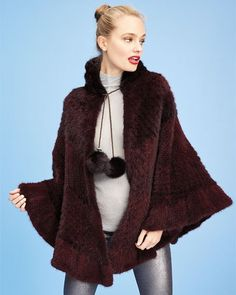 Supply Faux Mink Fur Tassel Poncho Capes Shawl Velvet Cardigan New Winter Women Batwing Sleeve Sweaters Jumper Outwear Knitted Coat Women's Clothing