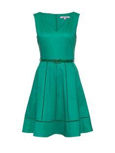 Review Australia   Battenburg Dress Evergreen