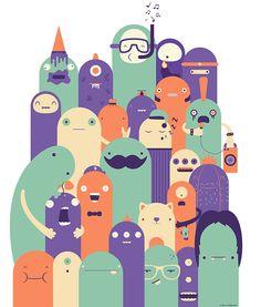 Family portrait on Behance Event Poster Design, Creative Poster Design, Creative Posters, Space Illustration, Family Illustration, Character Illustration, Storyboard, Kid Friendly Art, Family Poster